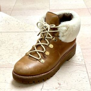 Michael by Michael Kors Tan Shearling Snow Boots